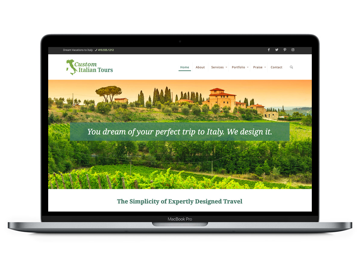 Example of customization of my recommended WordPress theme - Web Design by Virtuallinda